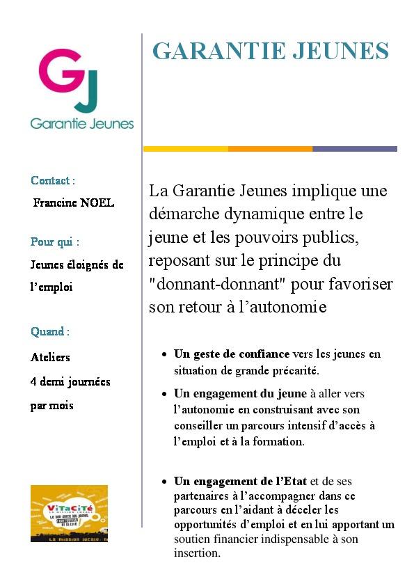 Fiche IP5 Garantie Jeunes